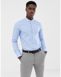 Chemise à manches longues bleu clair Calvin Klein