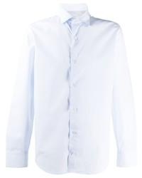 Chemise à manches longues bleu clair Eleventy