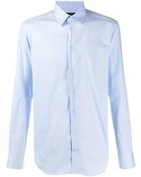 Chemise à manches longues bleu clair Emporio Armani