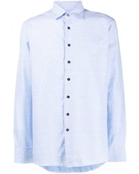 Chemise à manches longues bleu clair Etro