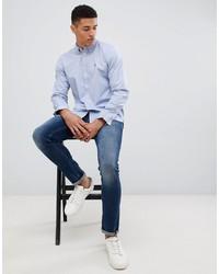 Chemise à manches longues bleu clair French Connection