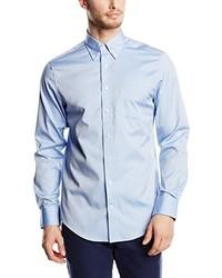 Chemise à manches longues bleu clair Gant