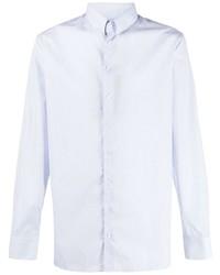 Chemise à manches longues bleu clair Giorgio Armani
