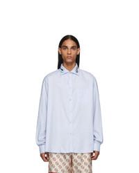 Chemise à manches longues bleu clair Gucci