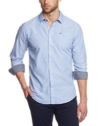 Chemise à manches longues bleu clair Hilfiger Denim