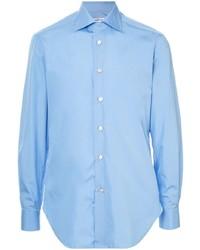 Chemise à manches longues bleu clair Kiton