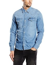 Chemise à manches longues bleu clair Lee