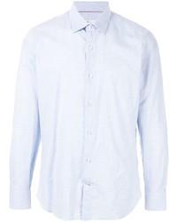 Chemise à manches longues bleu clair Loro Piana