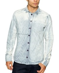 Chemise à manches longues bleu clair NUNC