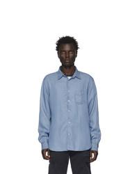 Chemise à manches longues bleu clair Officine Generale
