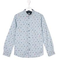 Chemise à manches longues bleu clair Paul Smith
