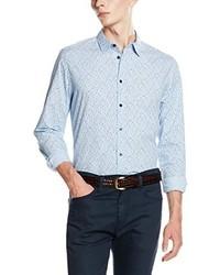 Chemise à manches longues bleu clair Pepe Jeans