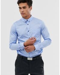 Chemise à manches longues bleu clair Pier One