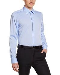 Chemise à manches longues bleu clair Pierre Clarence