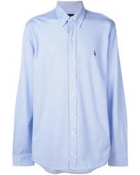 Chemise à manches longues bleu clair Polo Ralph Lauren