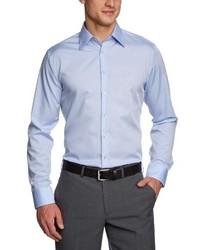 Chemise à manches longues bleu clair Schwarze Rose