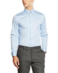 Chemise à manches longues bleu clair Selected