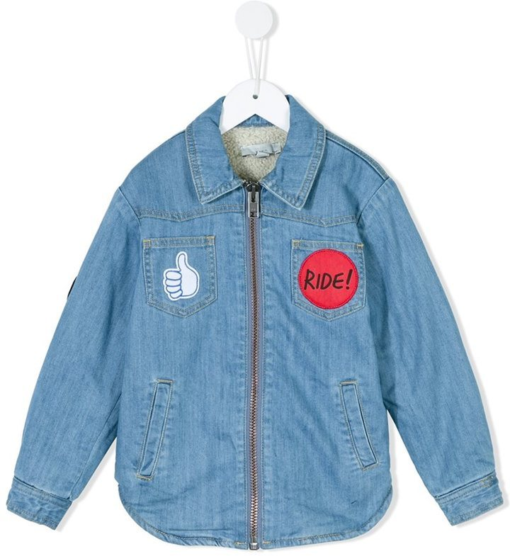 Chemise à manches longues bleu clair Stella McCartney