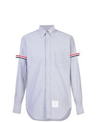 Chemise à manches longues bleu clair Thom Browne