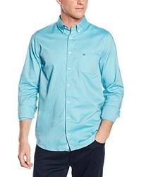 Chemise à manches longues bleu clair Tommy Hilfiger