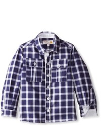 Chemise à manches longues bleu marine
