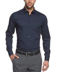 Chemise à manches longues bleu marine Arrow