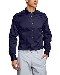 Chemise à manches longues bleu marine Ben Sherman