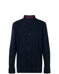 Chemise à manches longues bleu marine Billionaire