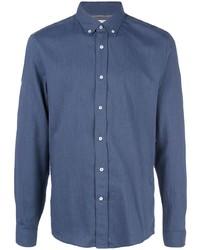 Chemise à manches longues bleu marine Brunello Cucinelli