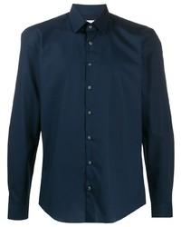 Chemise à manches longues bleu marine Calvin Klein