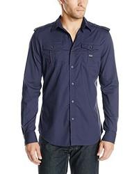 Chemise à manches longues bleu marine Diesel