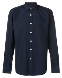 Chemise à manches longues bleu marine Eleventy