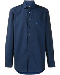 Chemise à manches longues bleu marine Etro