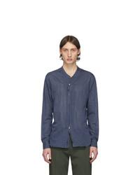 Chemise à manches longues bleu marine Giorgio Armani