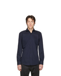 Chemise à manches longues bleu marine Hugo