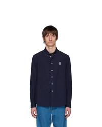 Chemise à manches longues bleu marine Kenzo