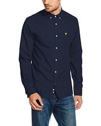 Chemise à manches longues bleu marine Lyle & Scott
