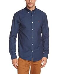 Chemise à manches longues bleu marine Selected