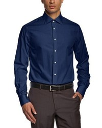 Chemise à manches longues bleu marine Tommy Hilfiger Tailored