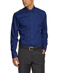 Chemise à manches longues bleu marine Venti