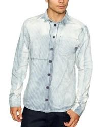 Chemise à manches longues bleue claire NUNC