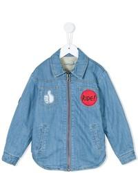 Chemise à manches longues bleue claire Stella McCartney