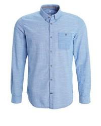 Chemise à manches longues bleue claire Tom Tailor