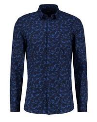 Chemise à manches longues bleue marine Calvin Klein