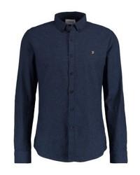 Chemise à manches longues bleue marine Farah