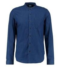 Chemise à manches longues bleue marine Gap