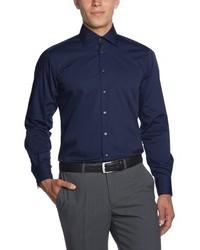 Chemise à manches longues bleue marine Otto Kern