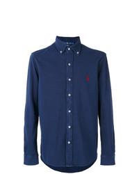 Chemise à manches longues bleue marine Polo Ralph Lauren