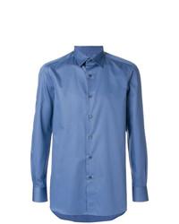 Chemise à manches longues bleue Boglioli