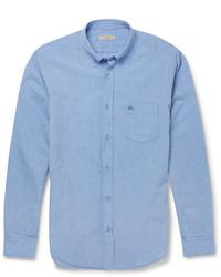 Chemise à manches longues bleue Burberry